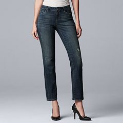 Women's Simply Vera Vera Wang Everyday Luxury Straight-Leg Midrise Jeans