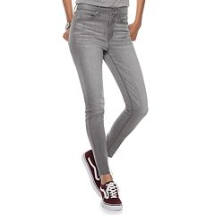 Juniors' Mudd® High-Waisted Frayed Ankle Jeggings