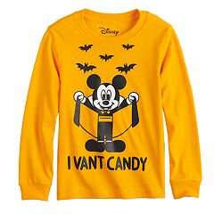 Disney's Mickey Mouse Toddler Boy Vampire Mickey 'I Vant Candy' Graphic Tee