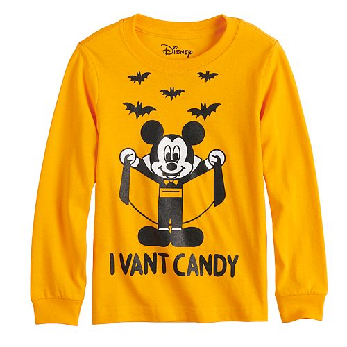 "Disney's Mickey Mouse Toddler Boy Vampire Mickey ""I Vant Candy"" Graphic Tee"