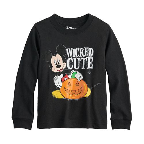 """Disney's Mickey Mouse Toddler Boy Pumpkin """"Wicked Cute"""" Graphic Tee"""