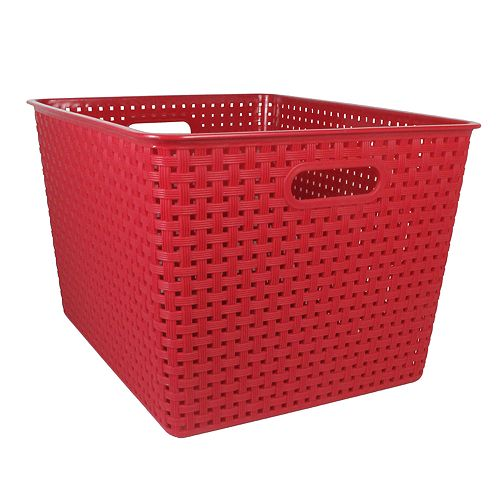 SONOMA Goods for Life™ Red Plastic Bin