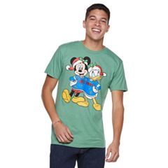 Men's Mickey Mouse & Donald Duck Christmas Tee