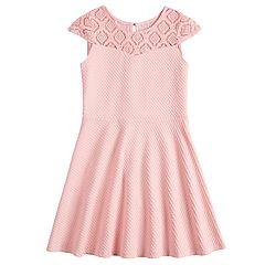 Girls 7-16 Lavender Textured Skater Dress