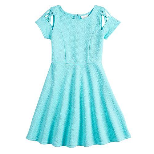 Girls 7-16 Lavendar Strappy Skater Dress