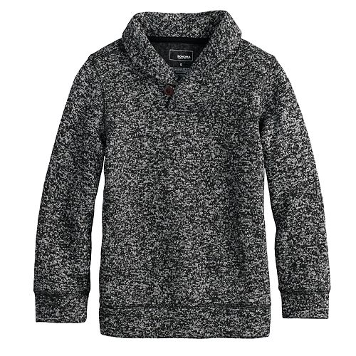 Boys 4-12 SONOMA Goods for Life™ Sweater Fleece Shawl Pullover Top