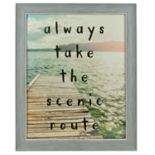 "Sheffield Home ""Always Take The Scenic Route"" Wall Decor"