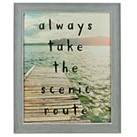 """Sheffield Home """"Always Take The Scenic Route"""" Wall Decor"""