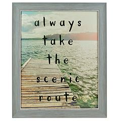 Sheffield Home 'Always Take The Scenic Route' Wall Decor