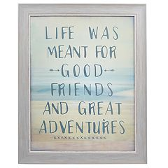 Sheffield Home 'Good Friends And Great Adventures' Wall Decor