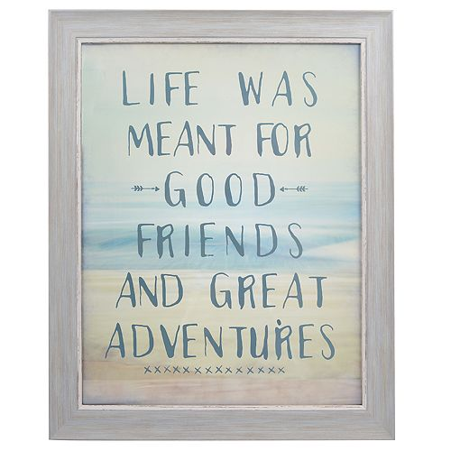 "Sheffield Home ""Good Friends And Great Adventures"" Wall Decor"