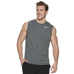Big & Tall Nike Dri-FIT Heathered Sleeveless Hydroguard Swim Tee