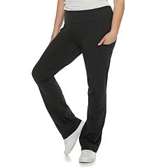Juniors' Plus Size SO® Phone-Pocket Skinny Bootcut Yoga Pants