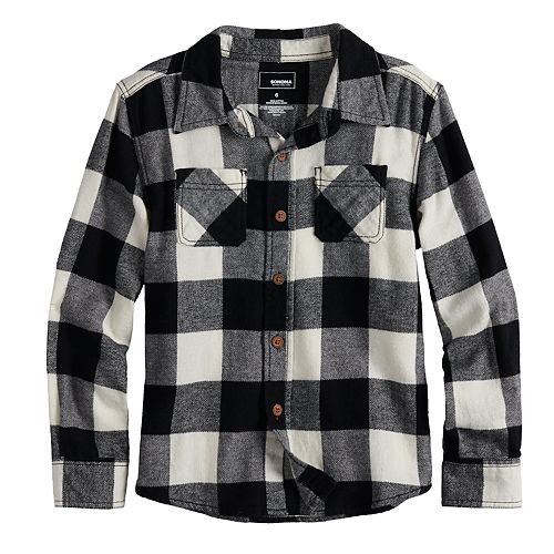 Boys 4-12 SONOMA Goods for Life™ Flannel Button Down Shirt