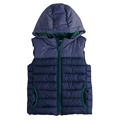 Boys 4-12 SONOMA Goods for Life™ Two Tone Quilted Hood Puffer Vest