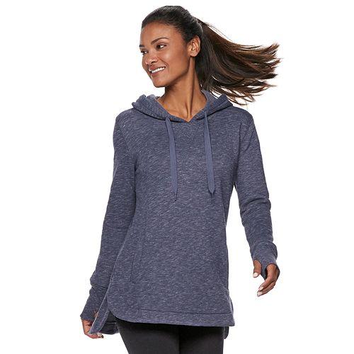 Women's Tek Gear® Thumb Hole Fleece Hoodie
