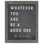"""Sheffield Home """"Be A Good One"""" Wall Decor"""