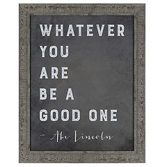 Sheffield Home 'Be A Good One' Wall Decor
