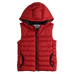 Boys 4-12 SONOMA Goods for Life™ Quilted Hood Puffer Vest