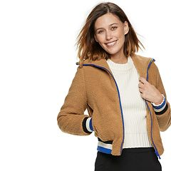 Women's POPSUGAR Teddy Bear Bomber Jacket