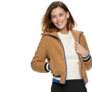Women's POPSUGAR Teddy Bear Bomber Jacket