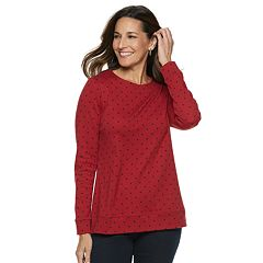 Women's Croft & Barrow® Extra-Soft Crewneck Sweatshirt