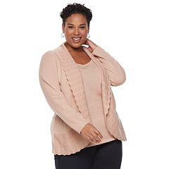 Plus Size Napa Valley Mock-Layer Lurex Top