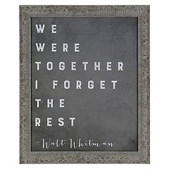 Sheffield Home 'We Were Together' Wall Decor