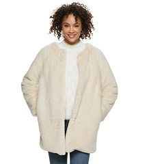 Women's POPSUGAR Faux-Fur Coat