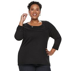 Plus Size Napa Valley Pointelle Sweater