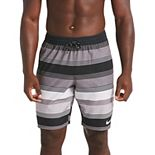 Men's Nike 6:1 Linen Racer Striped 9-inch Volley Swim Trunks