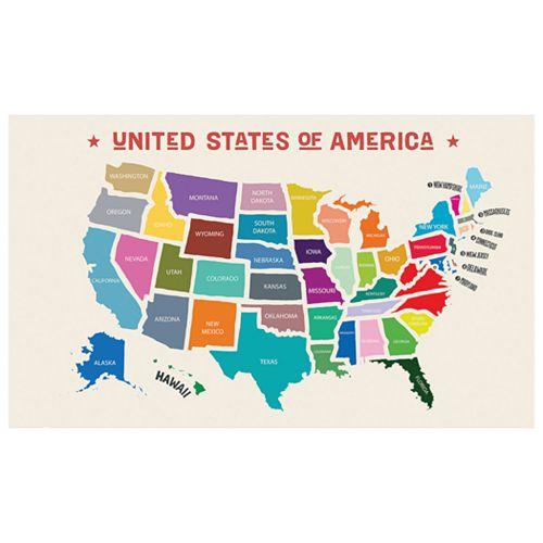Streamline Scratch-Off USA Map