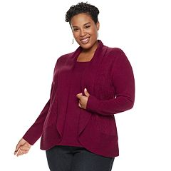 Plus Size Napa Valley Mock-Layer Top