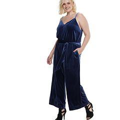 Plus Size POPSUGAR Velvet Wide-Leg Jumpsuit