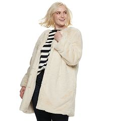 Plus Size POPSUGAR Faux-Fur Coat