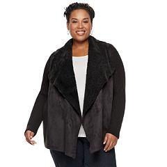 Plus Size Napa Valley Sherpa Cardigan