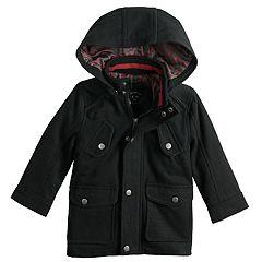 Toddler Boy Urban Republic Wool Military Hooded Midweight Jacket