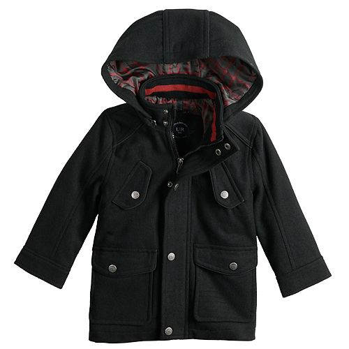 Toddler Boy Urban Republic Wool Military Hooded Midweight Jacket