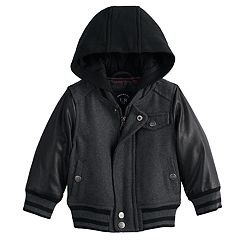 Baby Boy Urban Republic Wool Varsity Hooded Midweight Jacket