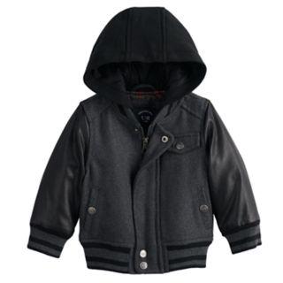 Baby Boy Urban Republic Wool Varsity Hooded Midweight Jacket
