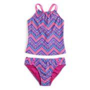 Girls 7-16 SO® Global Chevron Tankini Top & Bottoms Swimsuit Set