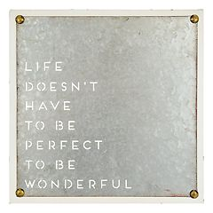Belle Maison 'Life Doesn't Have To Be Perfect' Wall Decor