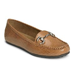 A2 by Aerosoles Drive Back Women's Faux Snakeskin Moccasins