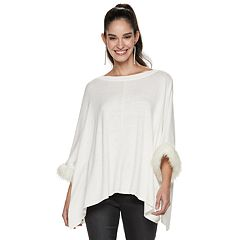 Women's Jennifer Lopez Faux-Fur Caftan Top