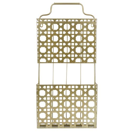 Belle Maison 2-Basket Metal Magazine Rack Wall Decor