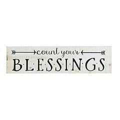 Belle Maison Rustic 'Blessings' Wood Wall Decor