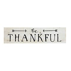 Belle Maison Rustic 'Be Thankful' Wood Wall Decor