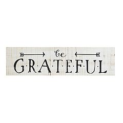 Belle Maison Rustic 'Be Grateful' Wood Wall Decor