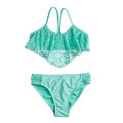 Girls 7-16 SO® Cute Crochet Bikini Top & Bottoms Swimsuit Set