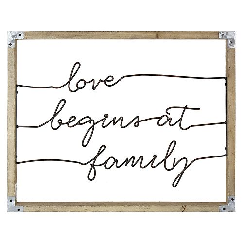 "Belle Maison ""Love Begins At Family"" Wall Decor"